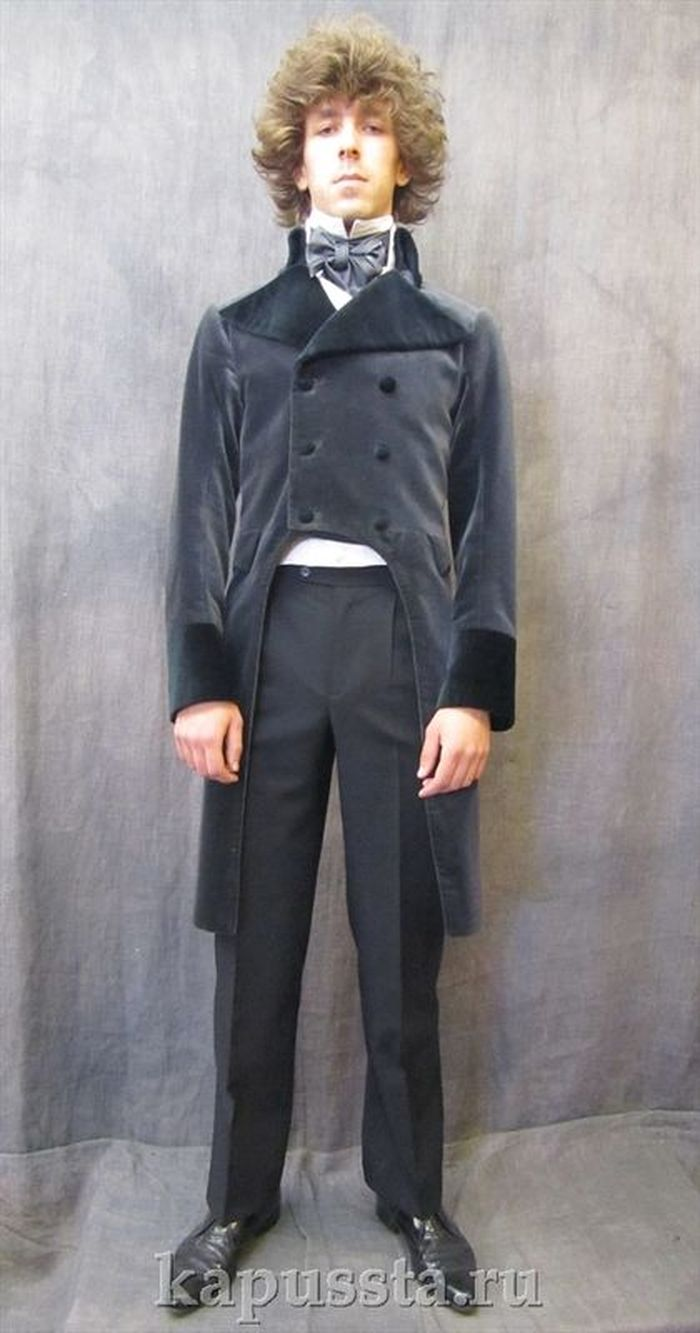 Tailcoat velvet gray