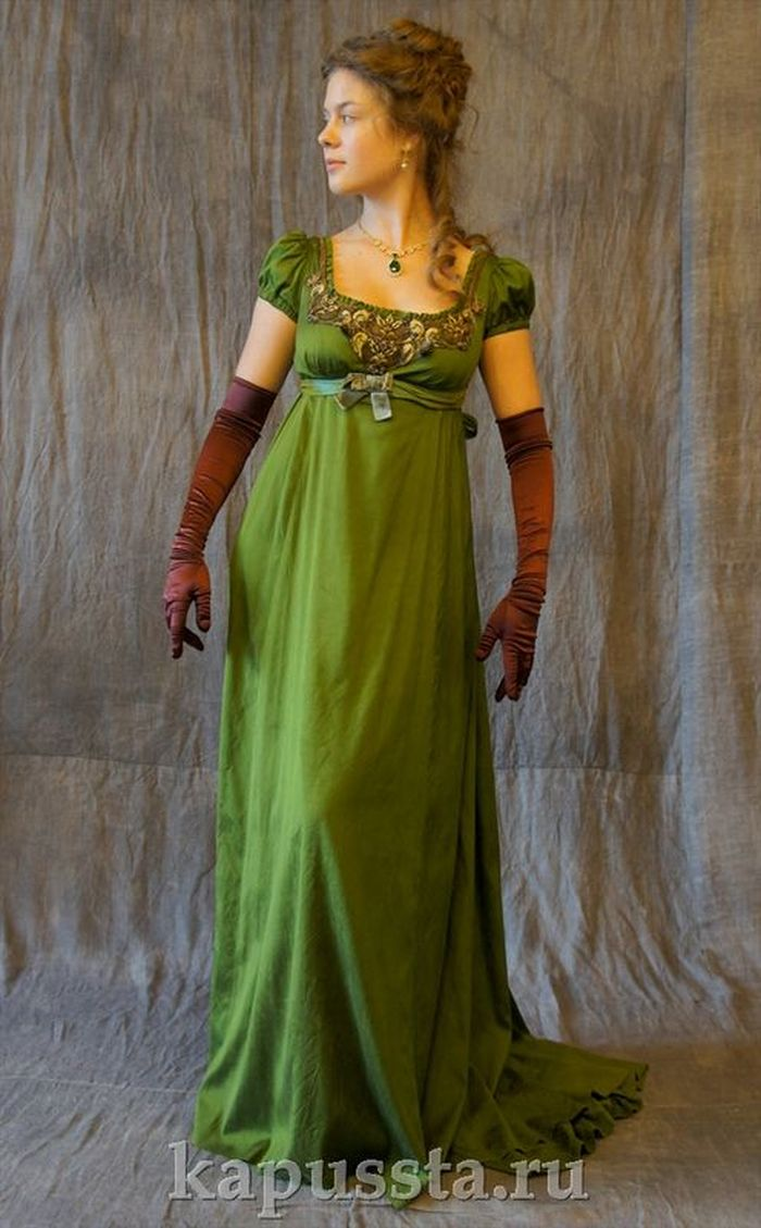 Dress green with brown gloves