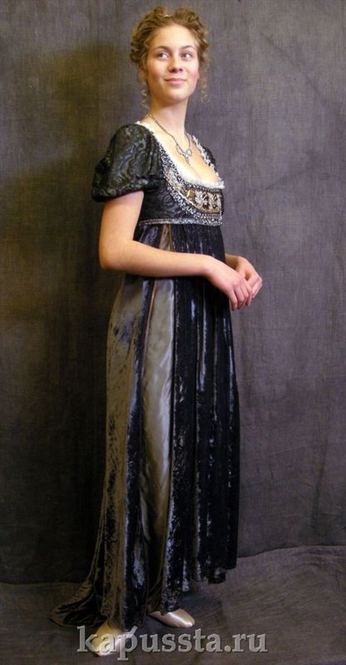 Velvet Empire Dress