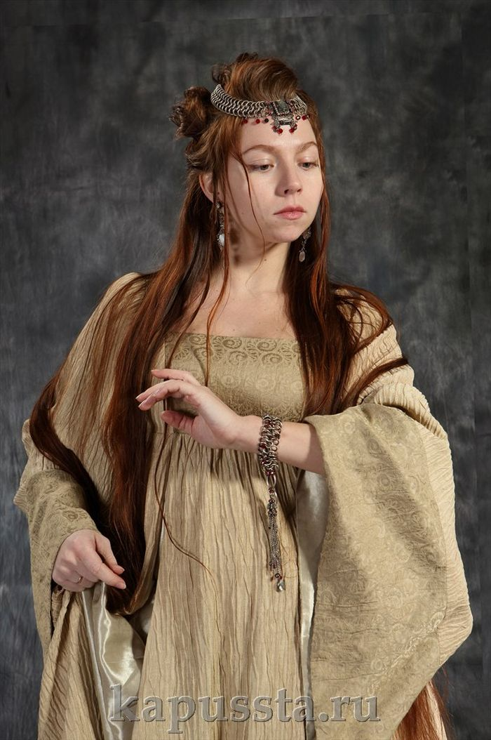 Viking dress with decorations