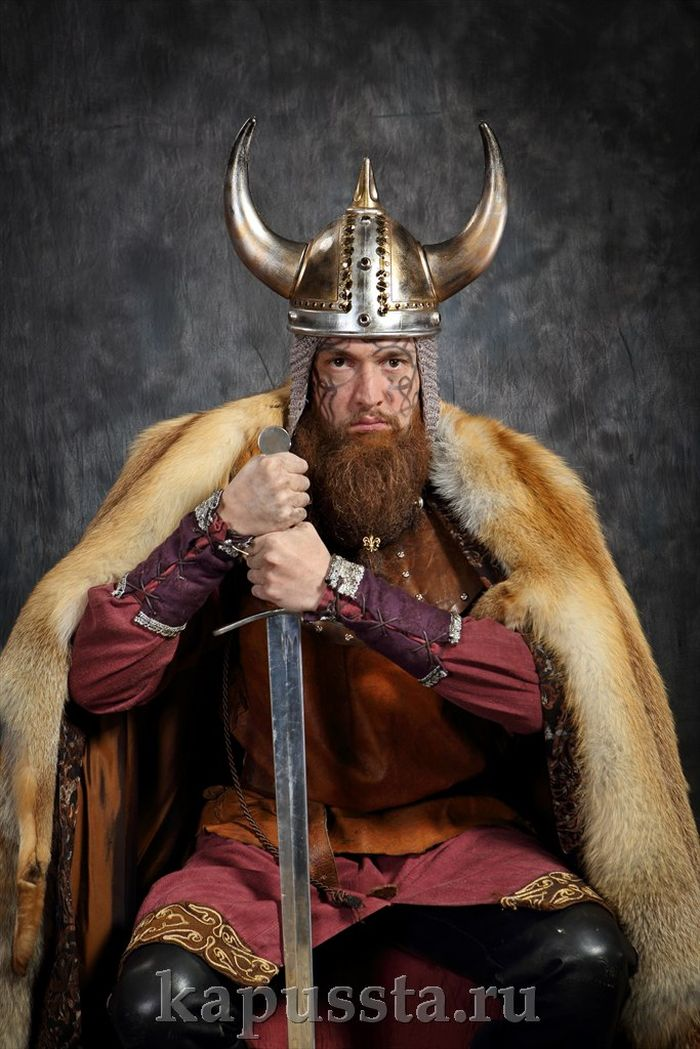 Viking with a sword