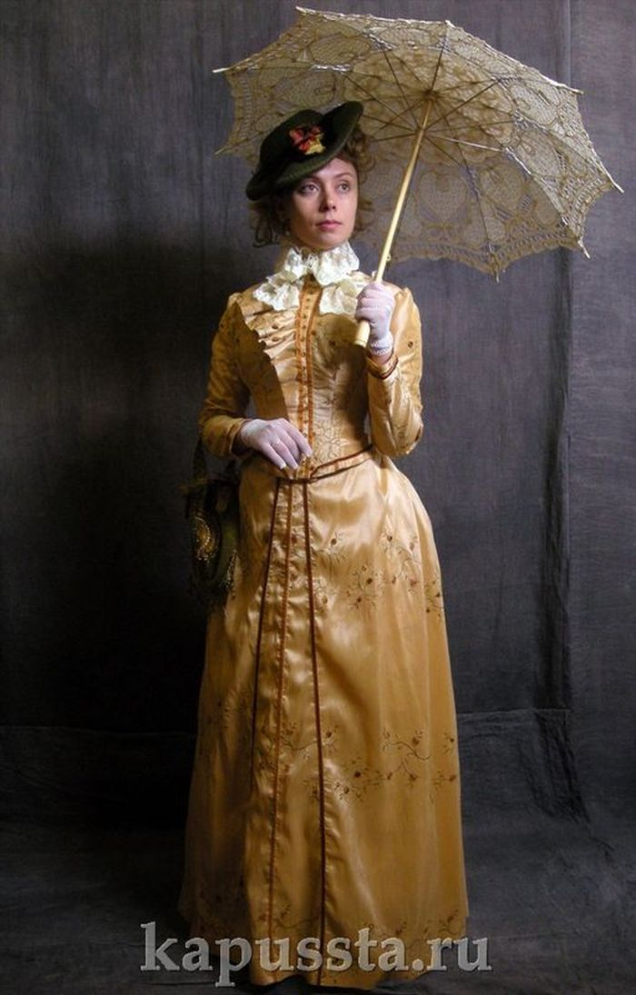 Taffeta Costume with Umbrella of the Modern Age