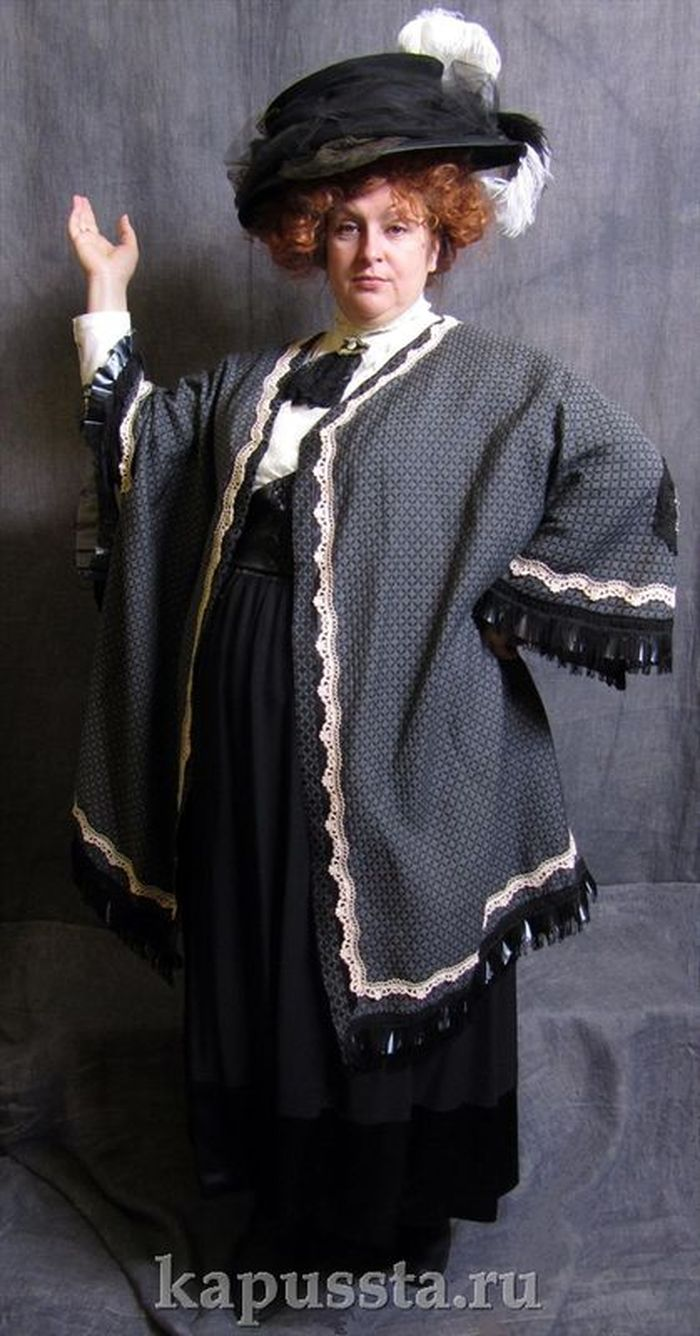 Dress with a cloak of the Modern Age