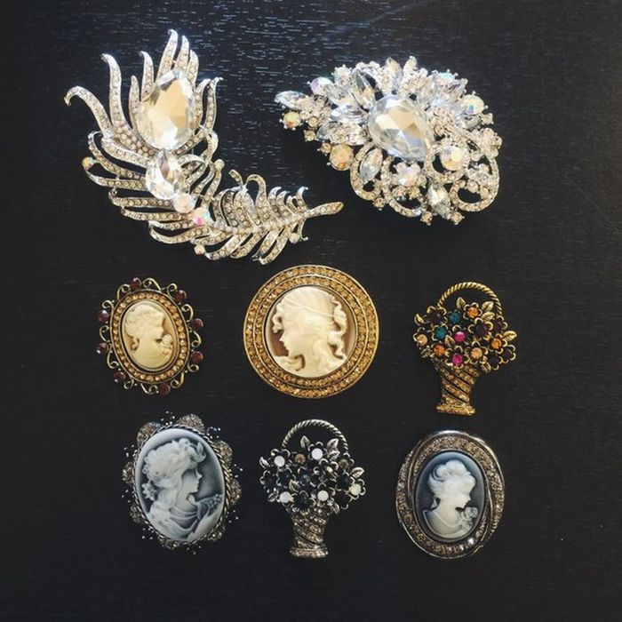 Brooches of different eras