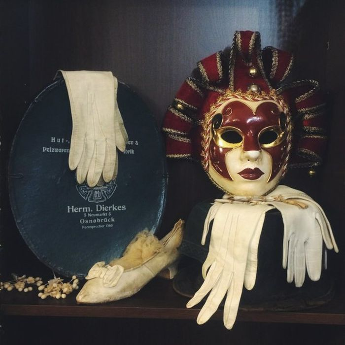 Samples of historical gloves