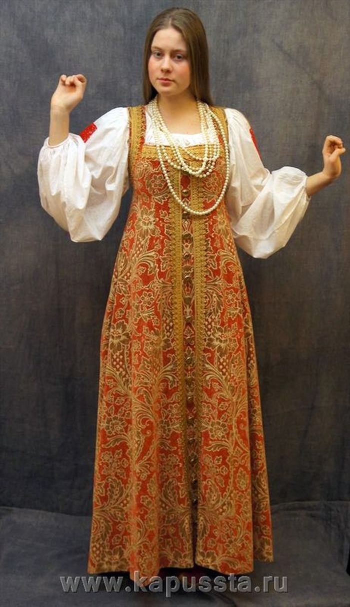 The costume of a Russian girl