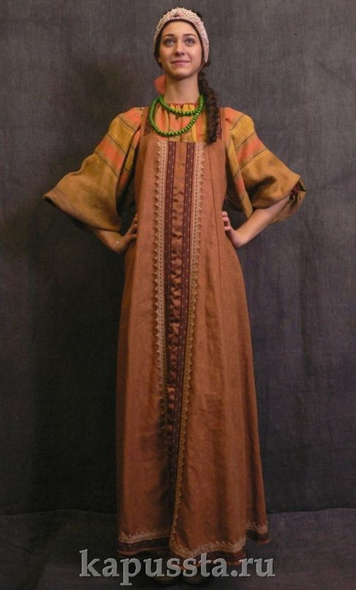 Simple folk dress