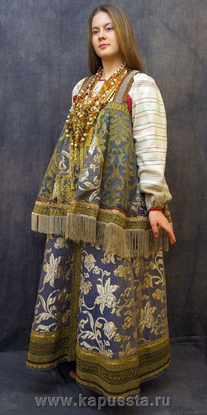 Russian maiden costume