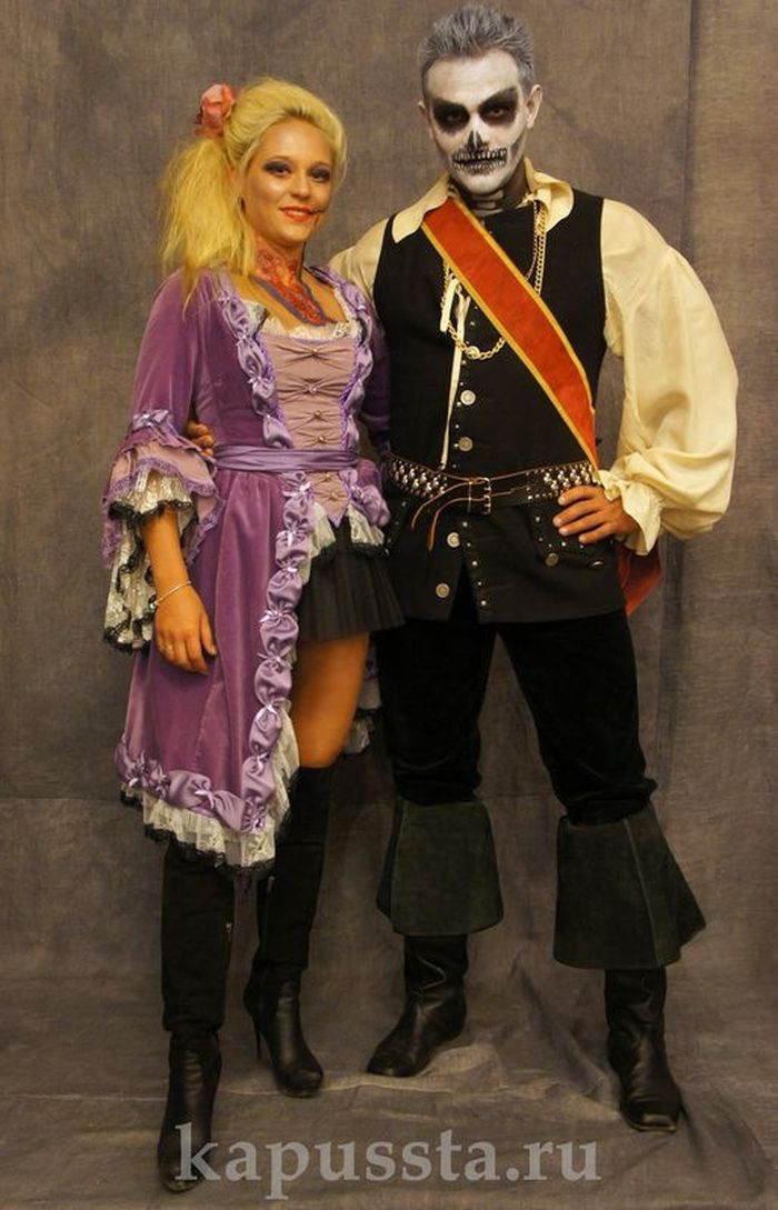 Costumes of pirates for Halloween
