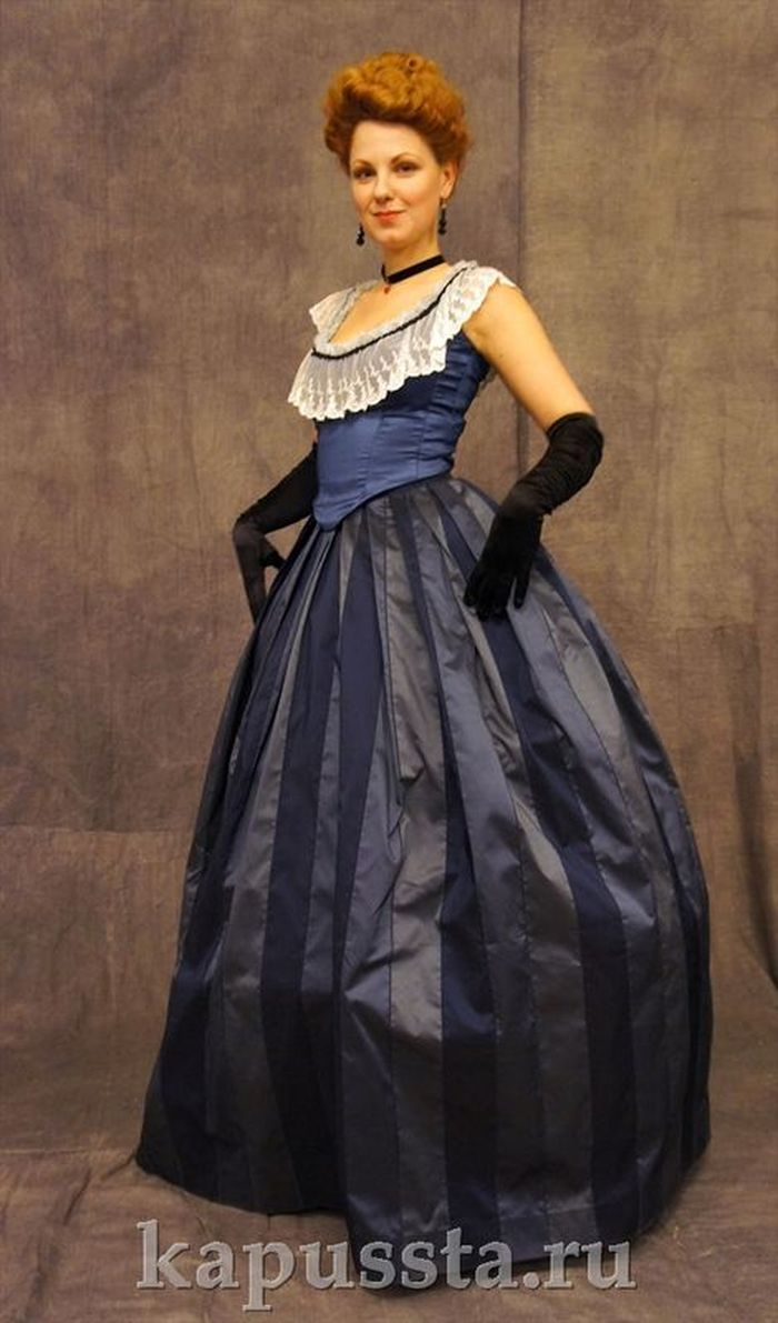 Ball Gown with Black Gloves