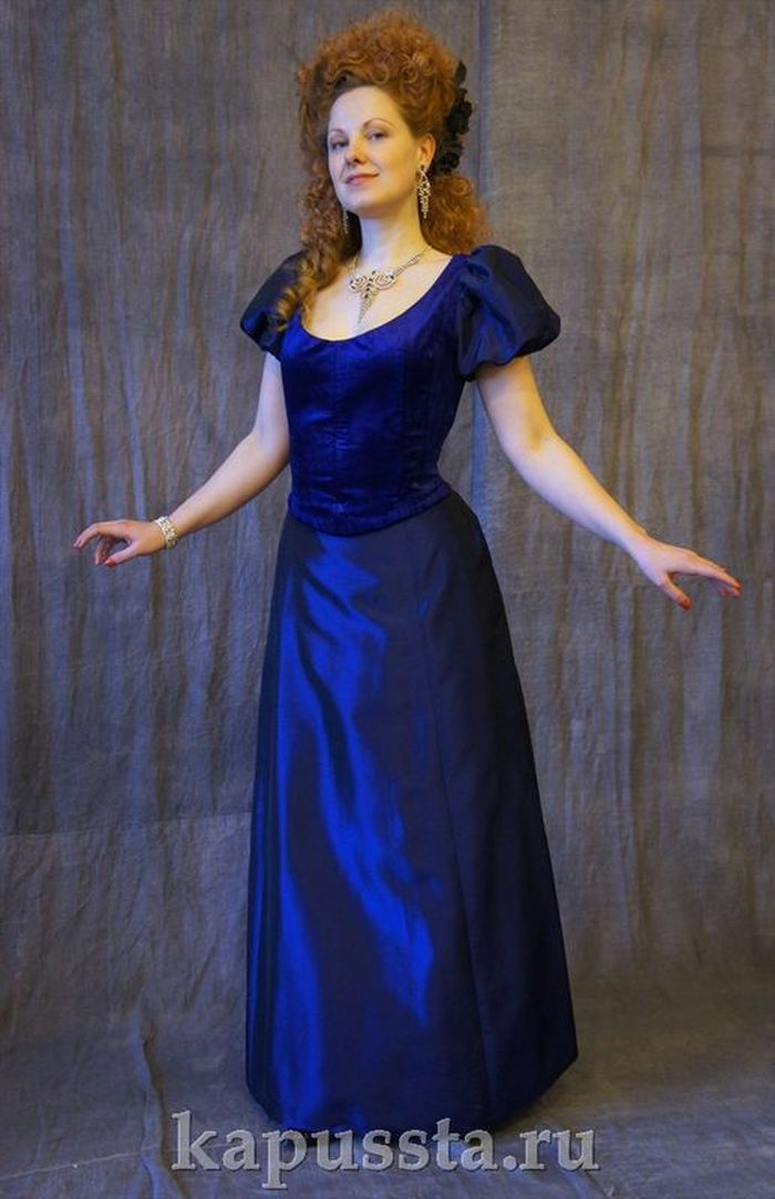 Ball Gown with Velvet Bodice