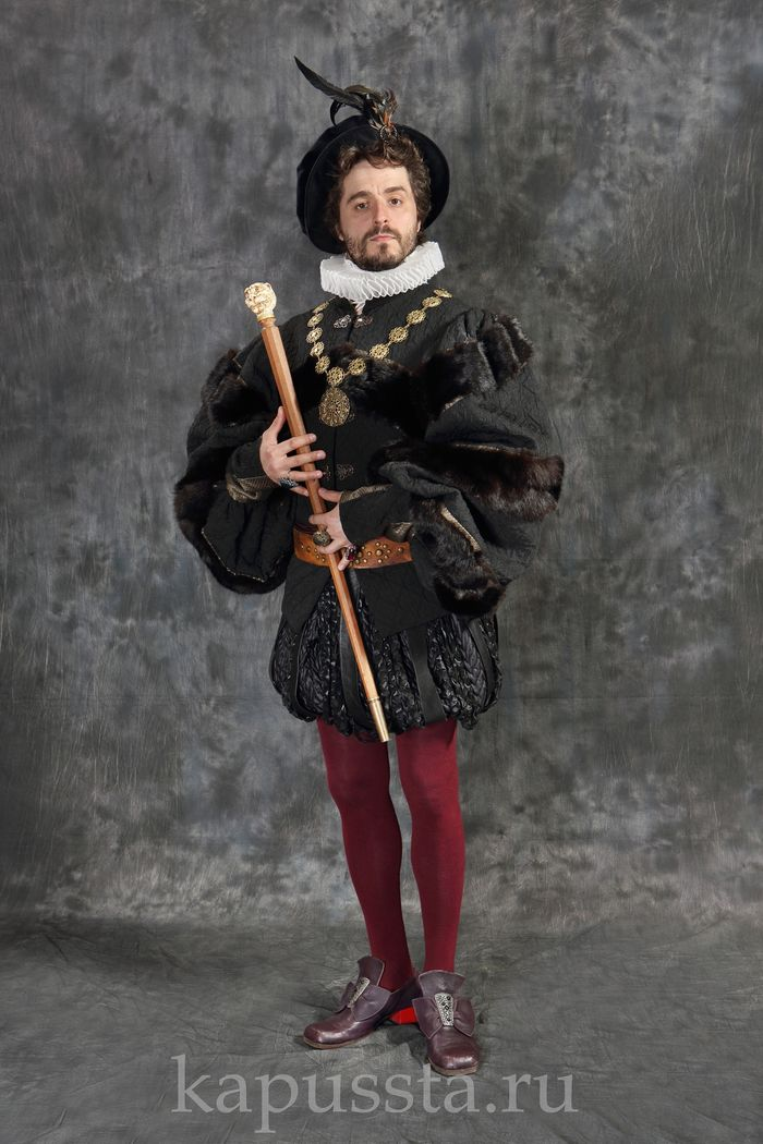 Renaissance suit with cutter