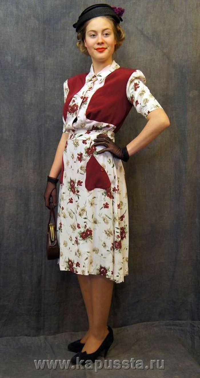 Combined dress of the forties