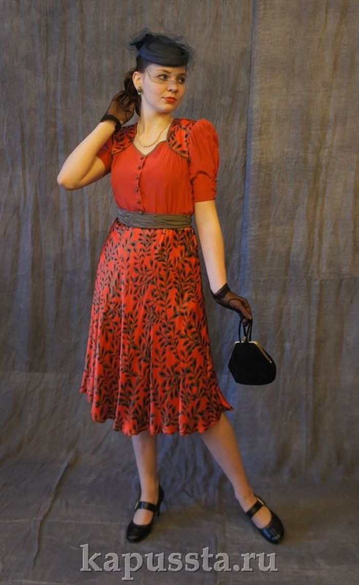 Red dress of the forties