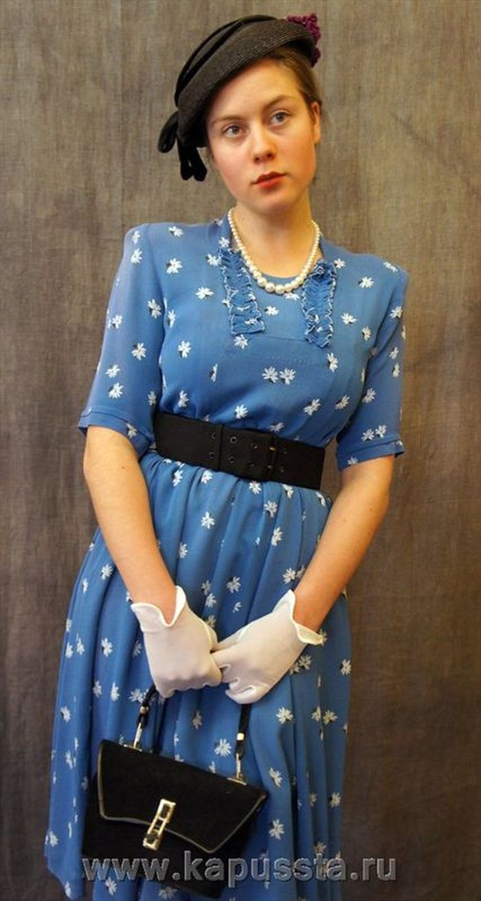 Vintage dress of the forties