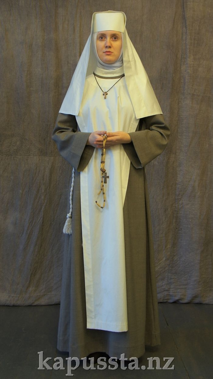 Nun Costume in a White Vinyl
