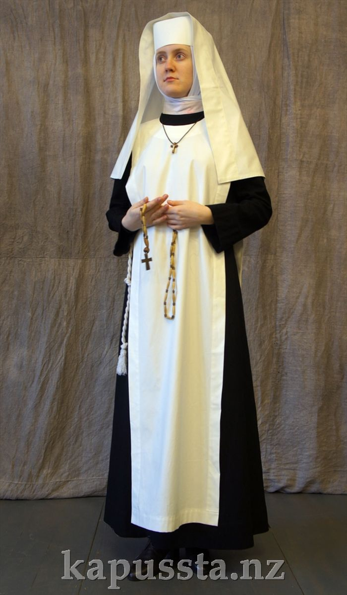 The costume of a Catholic nun