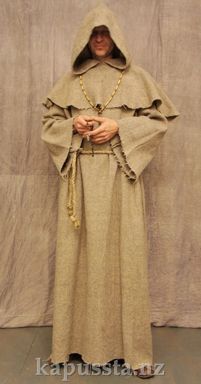 Costume of a Catholic monk