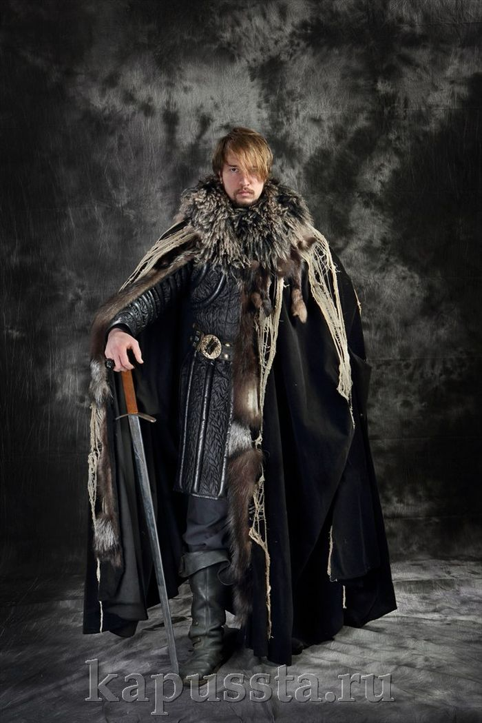 Viking in a black cloak