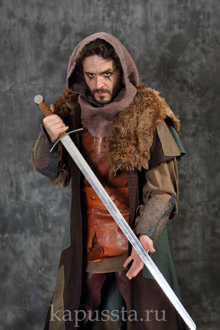 Viking Warrior Costume with Sword